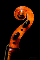 Sacconi Cello Headstock
